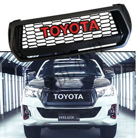 Imitaion Carbon Fiber Front Grill Bar Toyota Hilux TRD Logo Rocco 2018 2019 nhà cung cấp