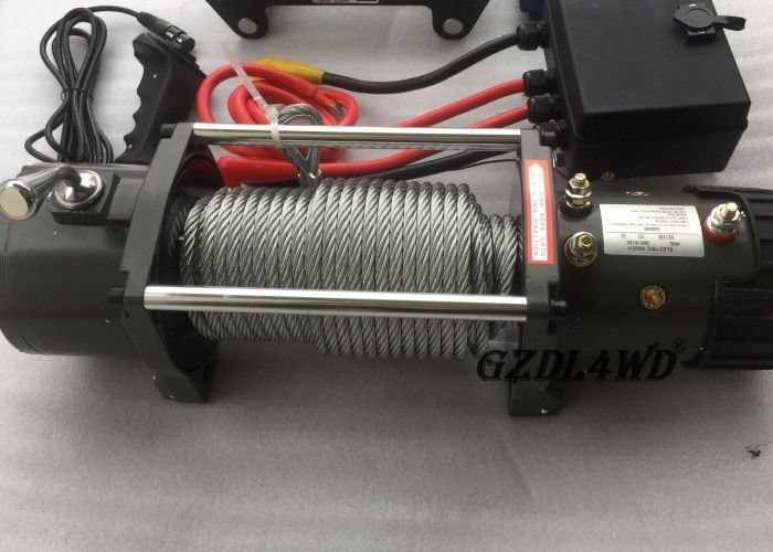 Trung Quốc 12v Truck Heavy Duty Electric Winch 8.3mm Steel Wire 9500lbs For Off Road nhà máy sản xuất
