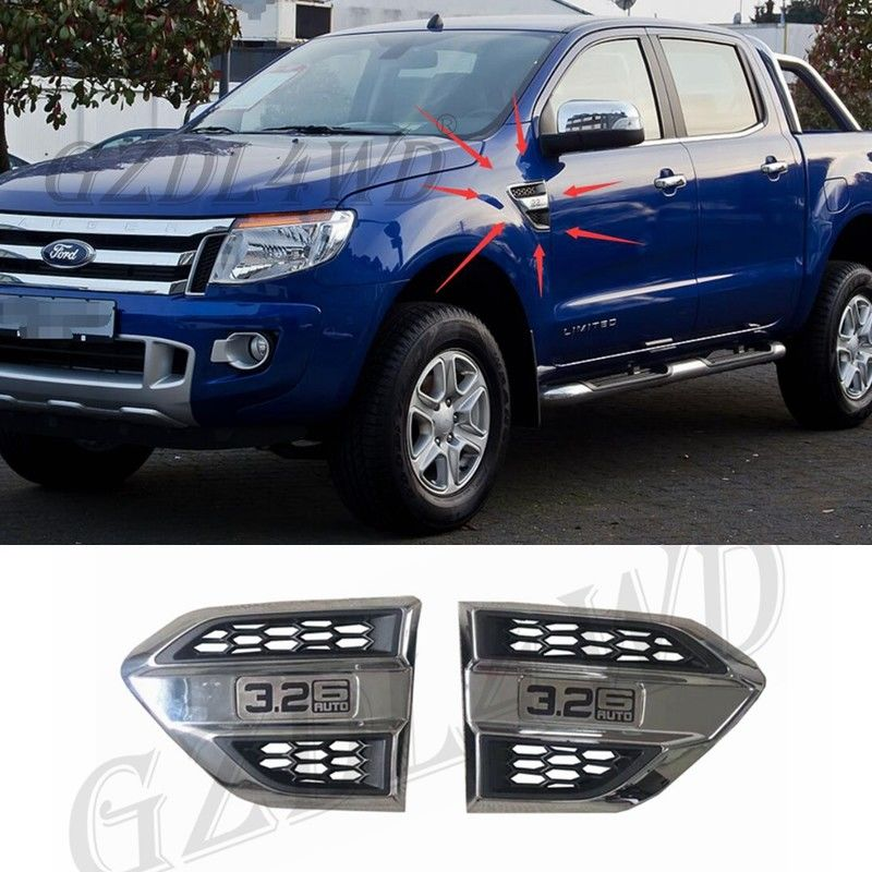 Trung Quốc Nắp nhựa gió Cổng Fender Side Air Outlet Air Flow Outlet Cover Trim For Ford Ranger nhà máy sản xuất